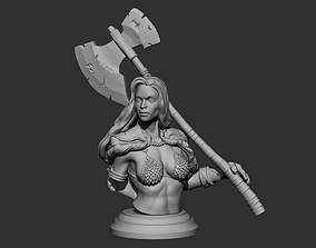 Red Sonja Bust 3D print model
