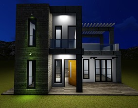 3d House door architecture