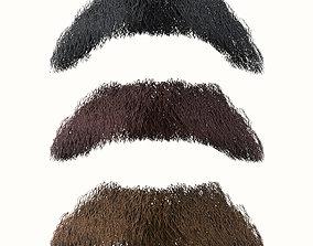 Mustache Low Poly 5 3D model