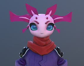 3D asset Anime Rabbit Girl Hero