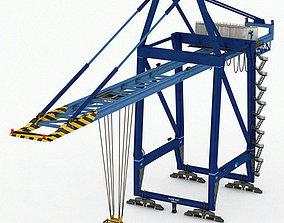 Port Container Crane 3D asset