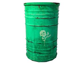 3D asset Green barrel
