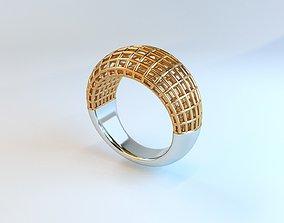 3D printable model Openwork ring platinum