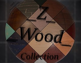 3D model Z Wood Procedural PBR Material Collection Texture
