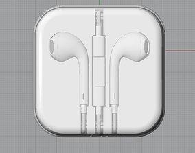 Apple EarPods iPhone7 3Dmodel