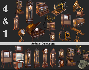 3D asset VR / AR ready Old Item Mega Pack