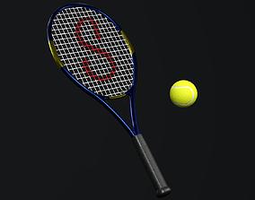 Tennis Racket 3D asset VR / AR ready