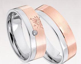 Wedding rings 072 3D printable model