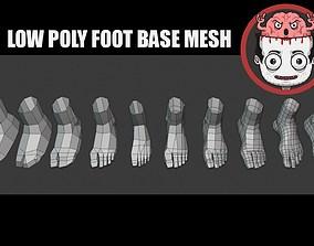 3D asset Foot basemesh pack