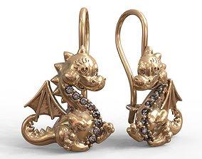 Dinosaur earrings 3D printable model