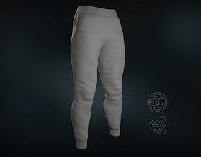 Gray Sport Pants 3D model