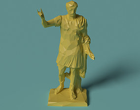 Polygonal Statue Trajan printable