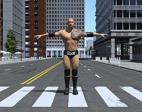 DROX-001 Dwayne Johnson 3D model rigged