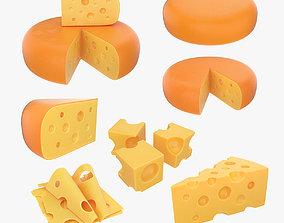 3D Cheese set wedge