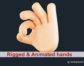 Okay Hand Gesture Animated Emoji 3D asset