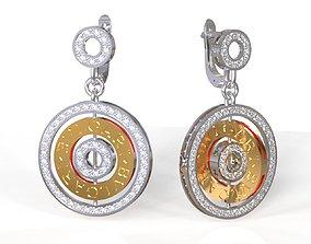 BVL Gari earrings 3D print model