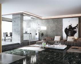 render 3D Living Room