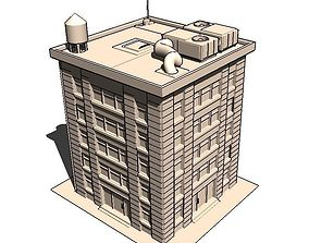 Residential Building - Detailled 3D asset