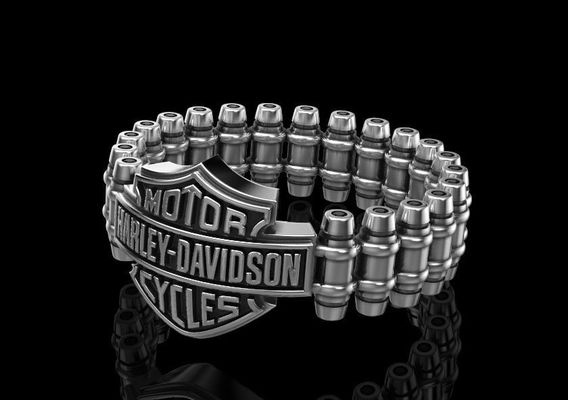 Pendant in style Harley Davidson v2 3D print model