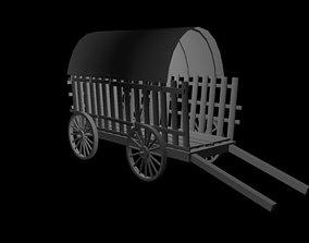 Horse Cart 3D asset