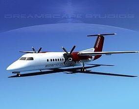 DeHavilland DHC-8-Q300 Midwest Charter 3D