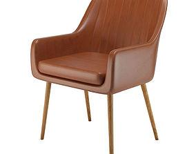 armchair Cognac Pike chair 3D model