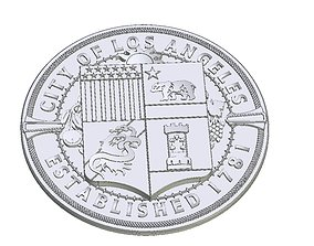 3D printable model LA seal shield coat of arms