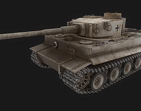 3D asset game-ready Tank Tiger