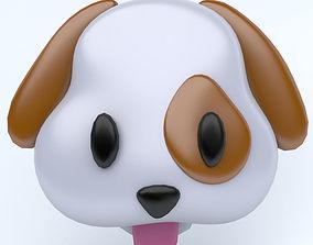 3D asset DOG icon emoji