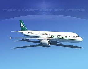 Airbus A320 LP Mexicana 3D model