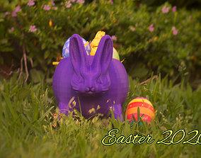 Maceta conejo de pascua easterbunny 3D print model