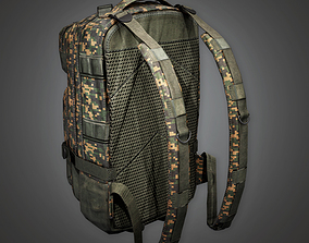 Military Backpack 03 - MLT - PBR Game Ready 3D model