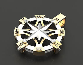 3D printable model Pendant rose wind 2 jewel