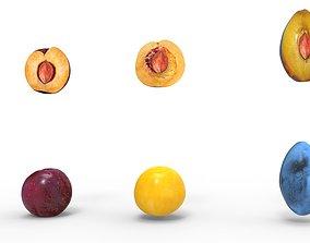 plum fruit 3D model VR / AR ready