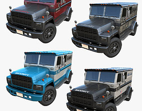 3D asset American armored security truck