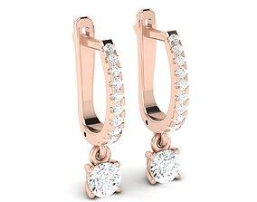 solitaire women earrings 3dm 12 render stl 1