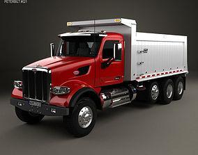 Peterbilt 567 SFFA Tipper Truck 4-axle 2015 sffa 3D