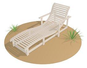 Deck chair 3D model deck