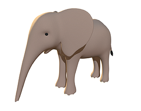 3D model Elephant Calf - Stylized