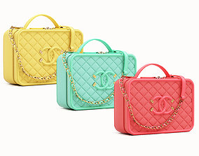 3D asset Chanel Quilted CC Filigree Monochromatic Pastel 3