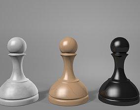 3D model Chess pawns