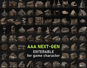 3D asset BIGGEST AAA HOUSES BUILDER PACK COLLECTION 2