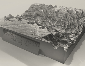 3D Printable Grand Canyon Landscape Plinth