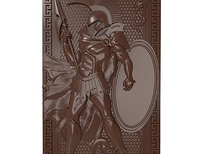 Spartan warrior bas relief for 3D printable model