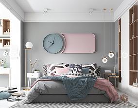 lamp 3D model modern bedroom design
