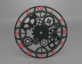 gear wall clock 3D printable model
