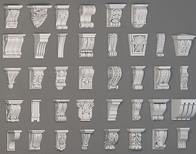 3D Corbels Collection -2 - 38 pieces