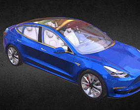 Tesla Model 3 3D asset
