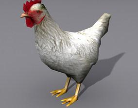 3D model Lowpoly Hen 2