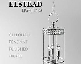 Guildhall Pendant Polished Nickel 3D model